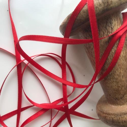 3mm Satin Ribbon - RED