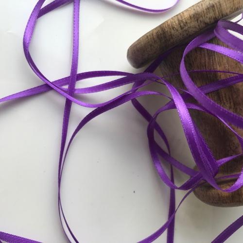 3mm Satin Ribbon - PURPLE