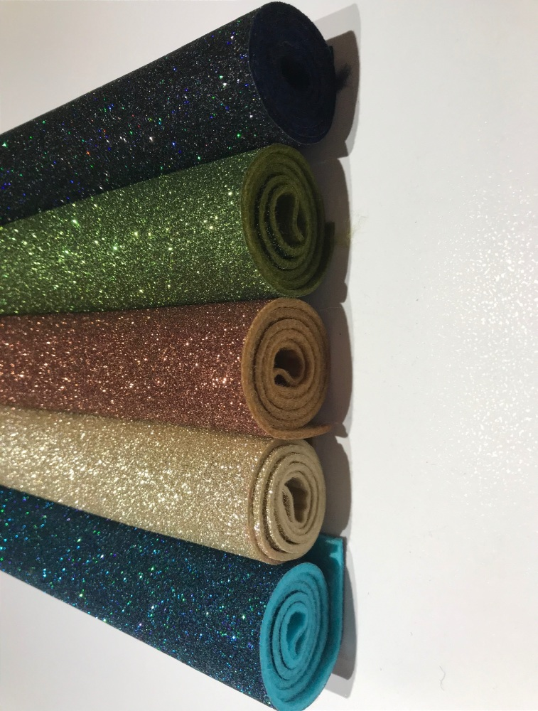 OLIVE - Glitter Felt