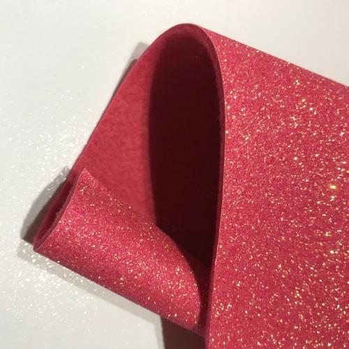 STRAWBERRY SPARKLE - Glitter felt