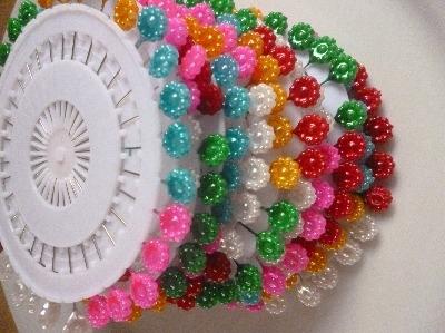 flower head pin wheel