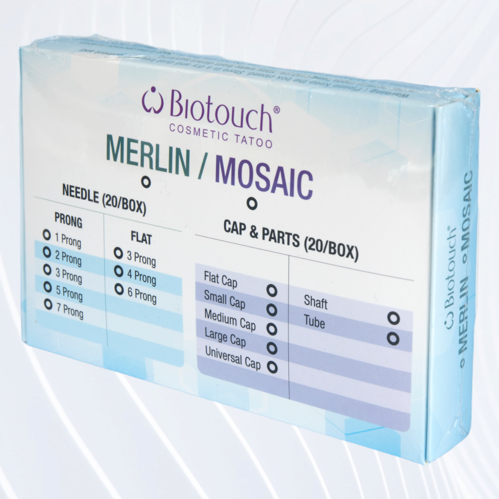Biotouch Mosaic 1 Round Needle Caps x 20 (New Packaging)