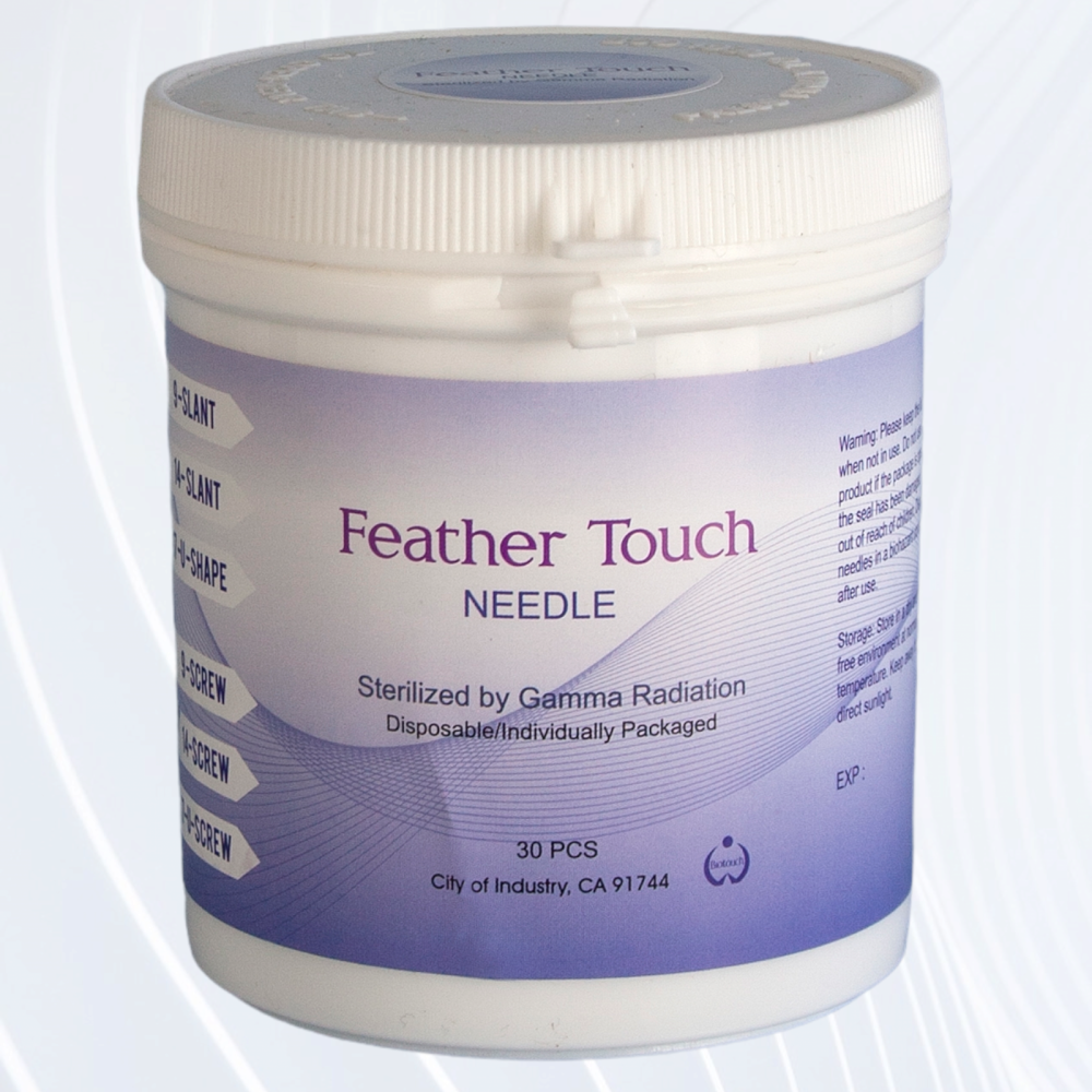 Biotouch Feathertouch 9 Prong Slanted Replacement Needles - Threaded Attach
