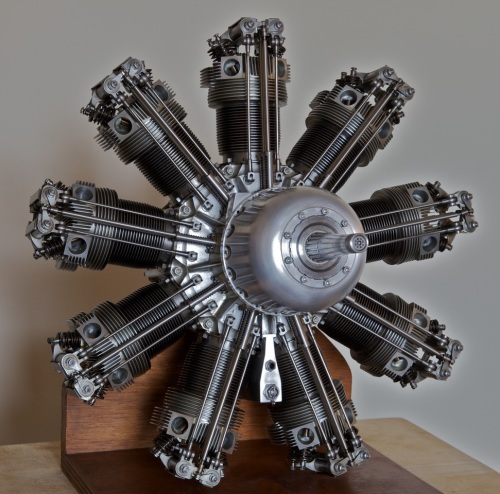 A 3/10 scale model of the Bristol Jupiter V111 FP of 1928