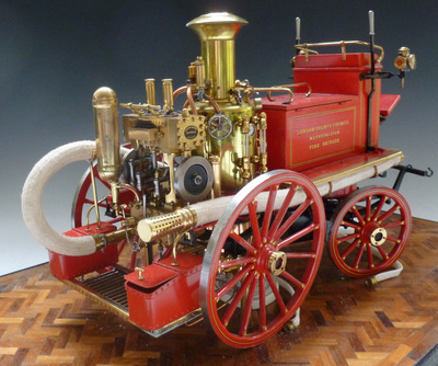 A very finely detailed 1:9 scale model of a Shand Mason Steam Fire Applianc