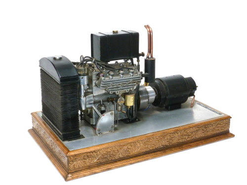 An exhibition standard model of a 'Seal' four cylinder internal combustion