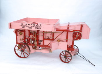 Exhibition quality 3 inch scale working model threshing machine - SOLD