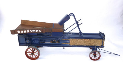 A fine exhibition 3 inch scale model of a Ransomes baler