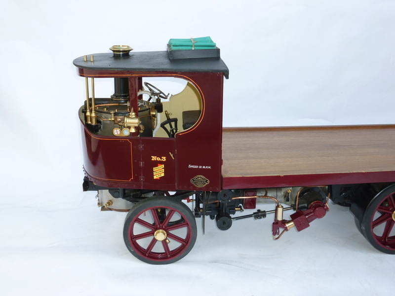 3 inch scale model of an \'Atkinson\' steam lorry