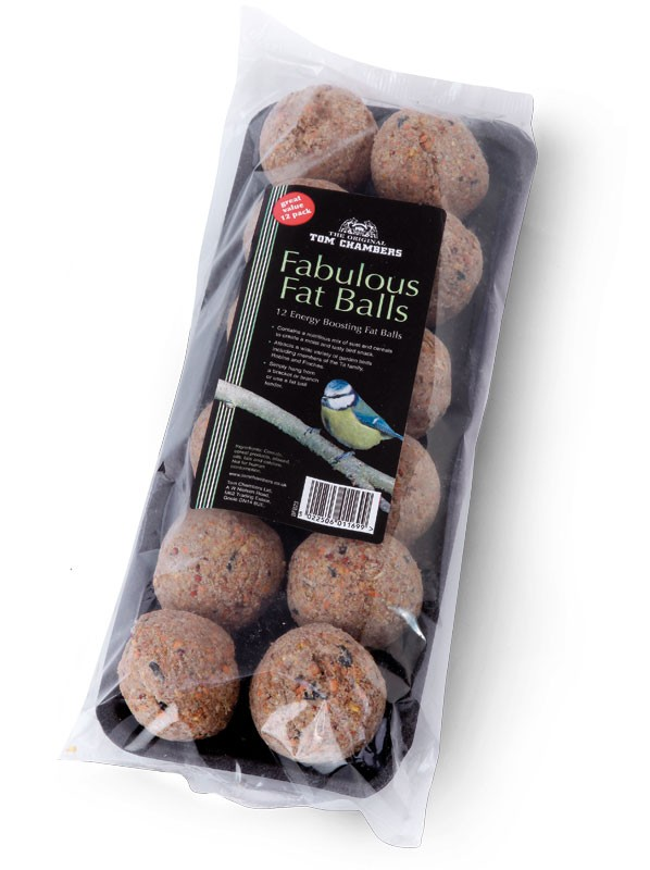 Tom Chambers Fabulous Fat Balls 12 Pack Bird Feed No Net