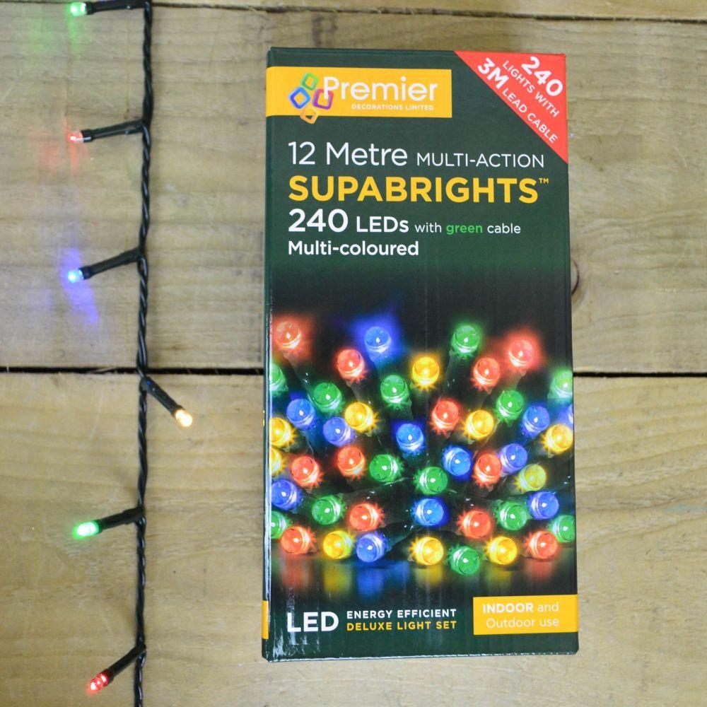 Premier Multi Action Supabright Christmas Lights - 240
