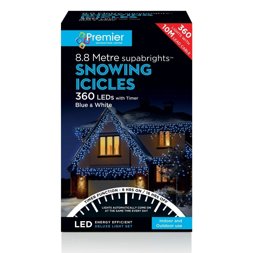 360 LED SNOWING ICICLES WHITE