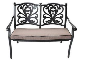 DEVON 2 SEAT BENCH w/cushion