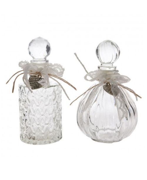 Decorative Glass Bottle with stopper& lace