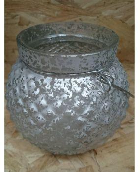 Silver tealight holder