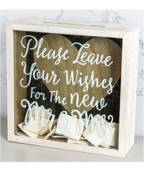 Wedding guest wish box