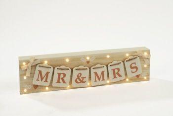 WEDDING MR&MRS LED BLOCK
