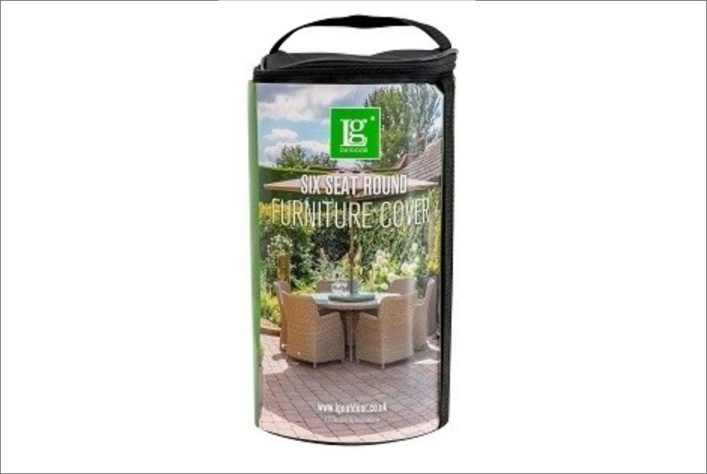 DELUXE COVER 6 SEAT ROUND DINING SET