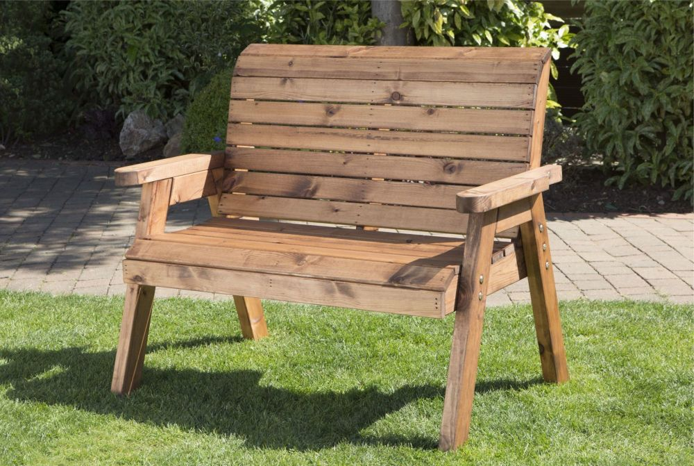 Charles Taylor Two Seater Garden Bench Wooden