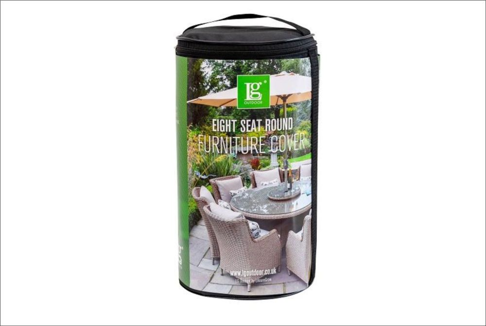 DELUXE COVER 8 SEAT ROUND DINING SET