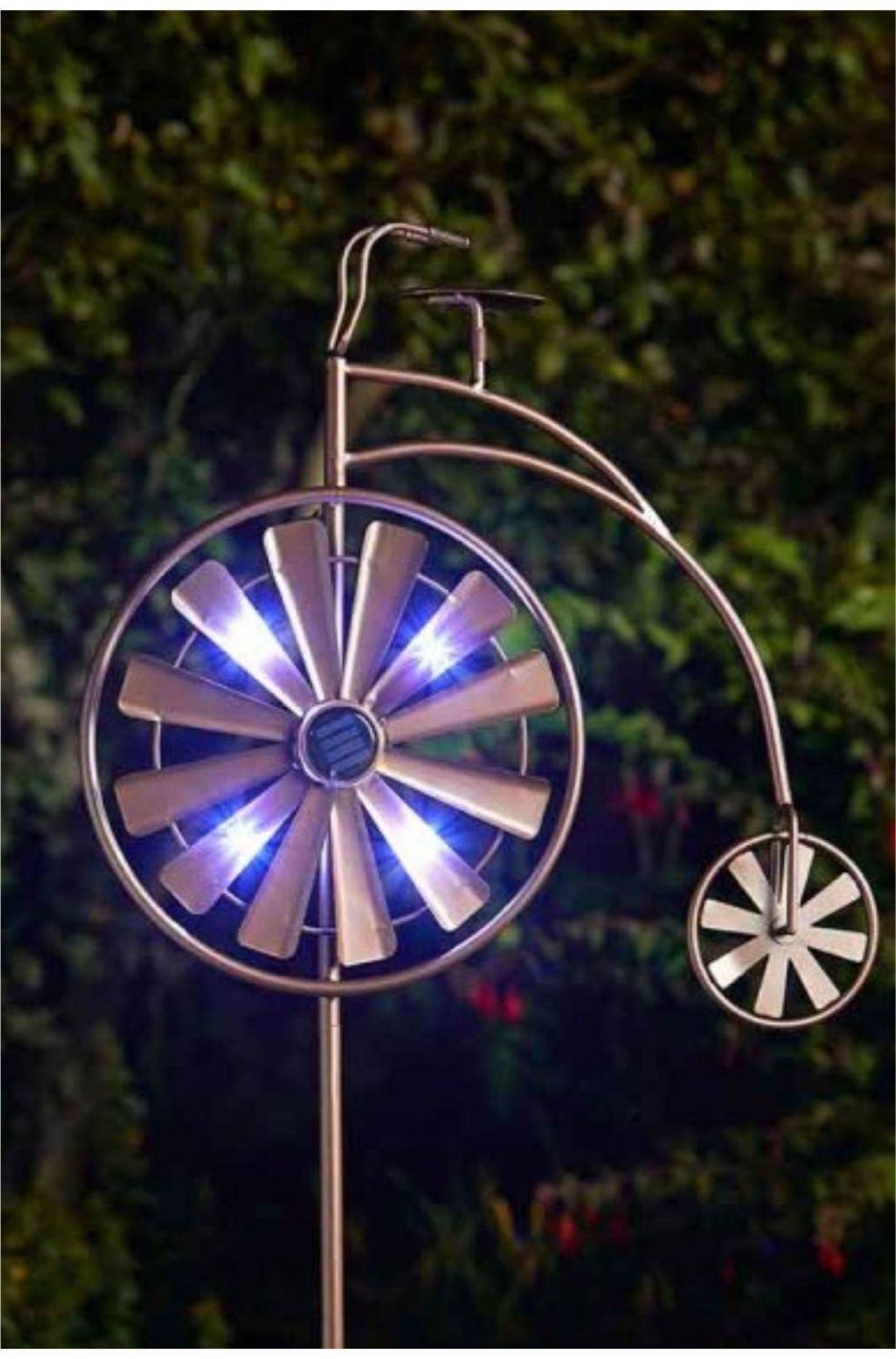 PENNY FARTHING WIND SPINNER