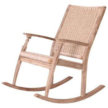 Hanoi Wood & Weave Rocking chair
