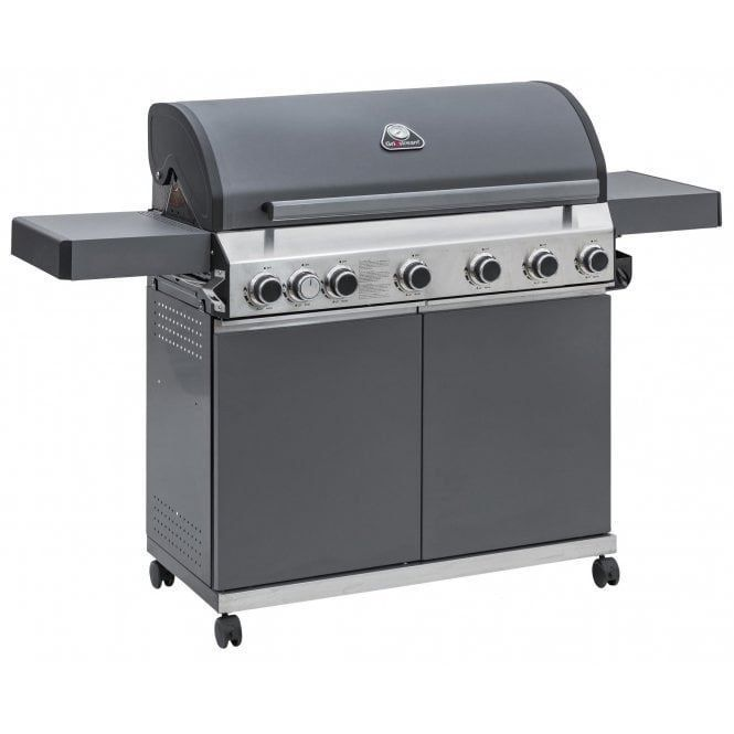 GRILLSTREAM CLASSIC 6 BURNER HYBRID WITH SIDE BURNER _MATT GREY