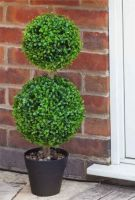 Artificial Duo Topiary Tree 60cm