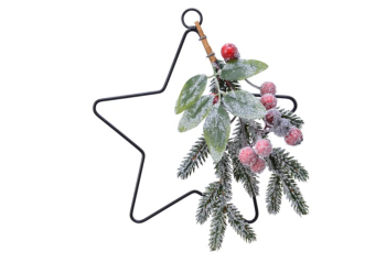 DECO STAR WITH BERRIES
