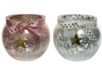TEALIGHT ANTIQUE WITH BOW