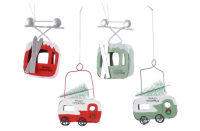 IRON CARAVAN AND SKI GONDOLA HANGING