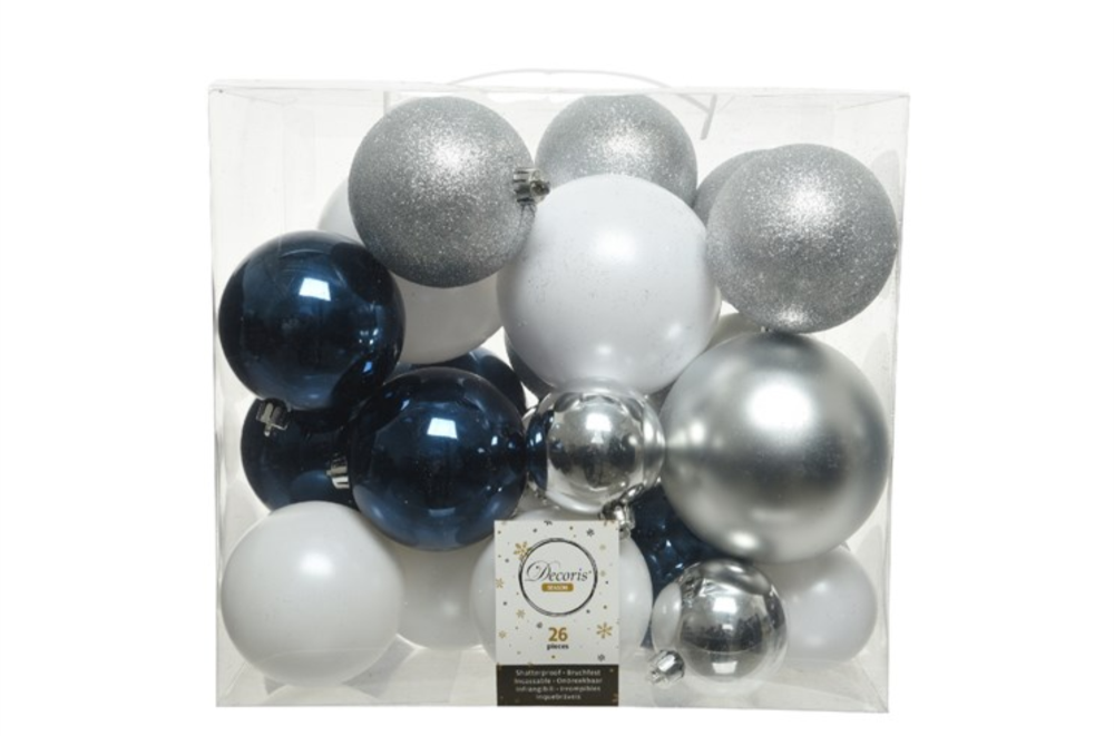SHATTER PROOF BAUBLES ICE CLASIC MIX
