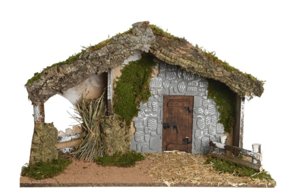 NATIVITY HOUSE STONE WALL