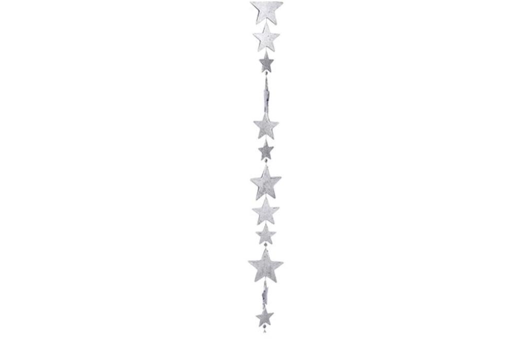 STAR GARLAND ORNAMENT silver