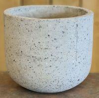 Polished  Concrete pot grey