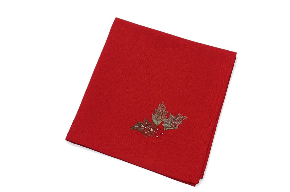 NAPKIN BLESSED RED