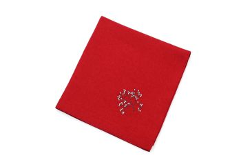 FROSTED  VILLAGE RED NAPKIN