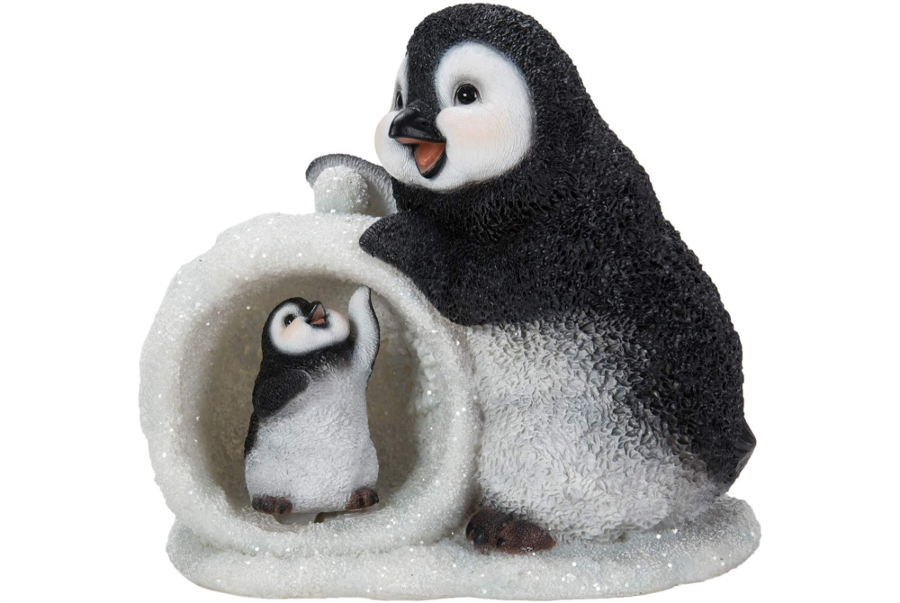 MOTHER/BABY SNOWBALL PENGUIN -F