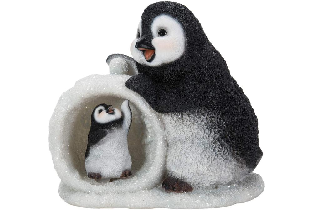 MOTHER/BABY SNOWBALL PENGUIN - D