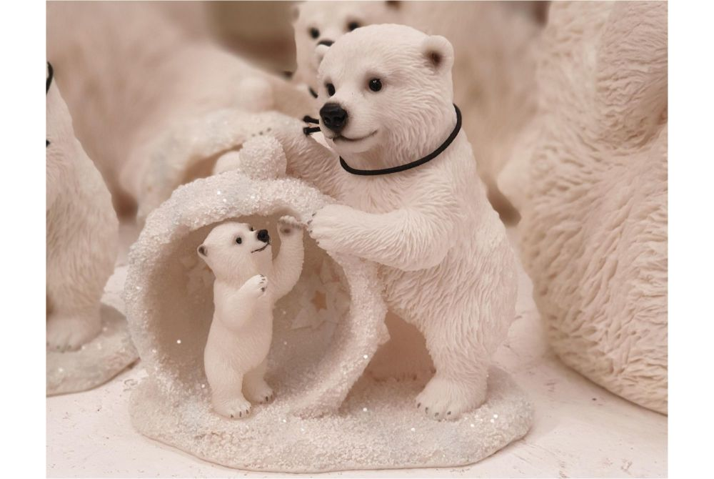 MOTHER/BABY SNOWBALL POLAR BEAR - D