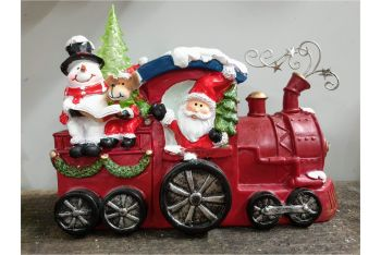 JOLLY SANTA TRAIN with lights