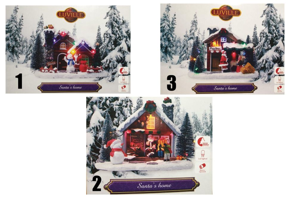 SCENERY SANTA'S HOME with lights