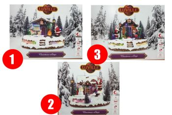 SCENERY SANTA VILLAGE rotating and wigh led lights