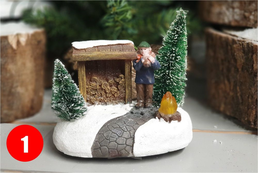 WINTER SCENERY with leds