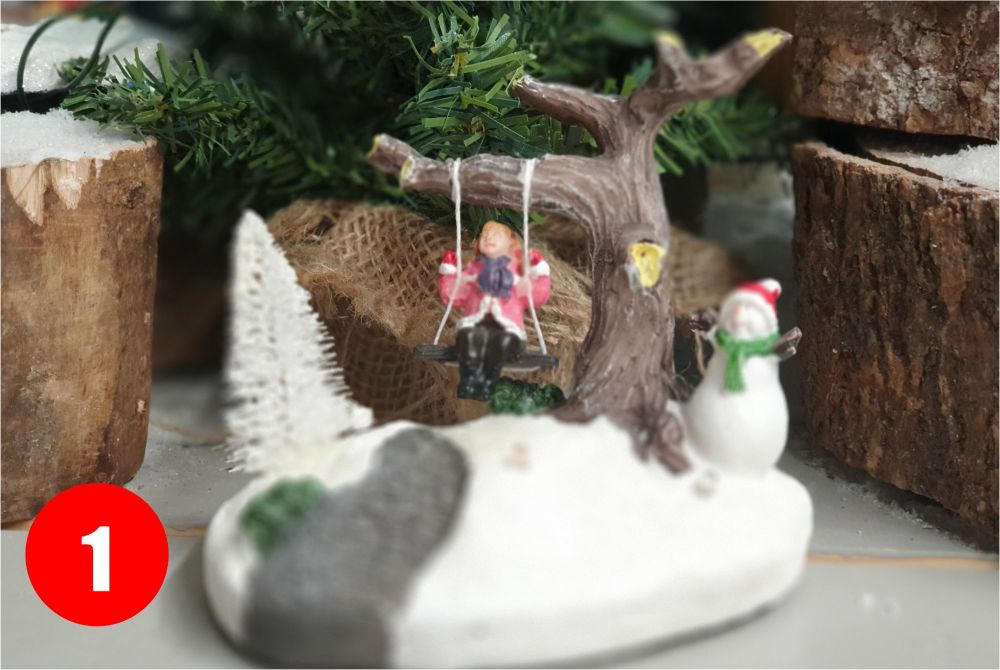 SNOWY SCENERY with leds