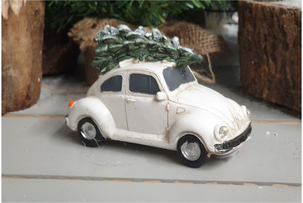 CHRISTMAS BEATLE CAR with leds