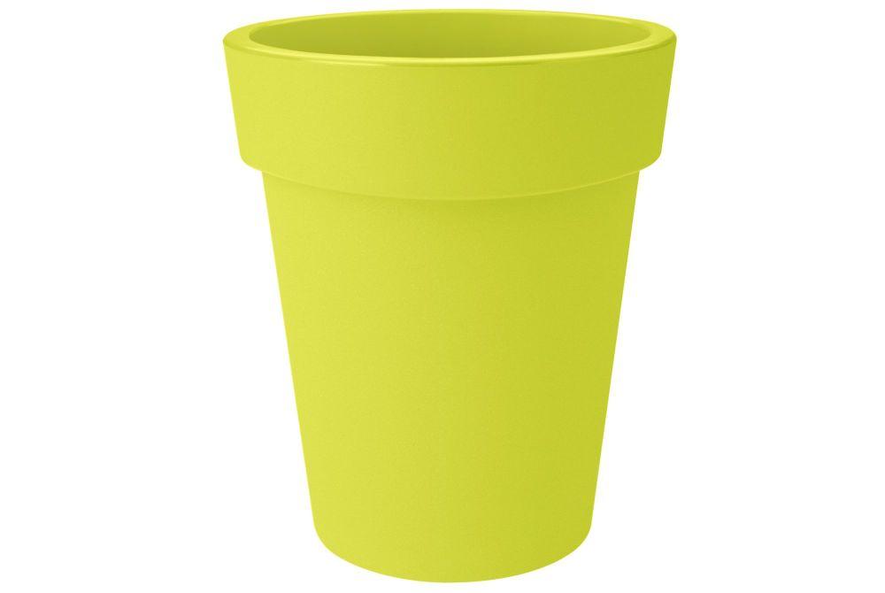 GREEN BASIC TOP  PLANTER HIGH  35 lime green