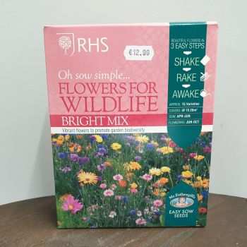 RHS FLOWERS FOR WILDLIFE BRIGHT MIX box