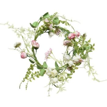 flower wreath - polyester