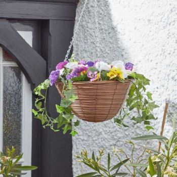 EASY BASKET - PANSIES - ARTIFICIAL